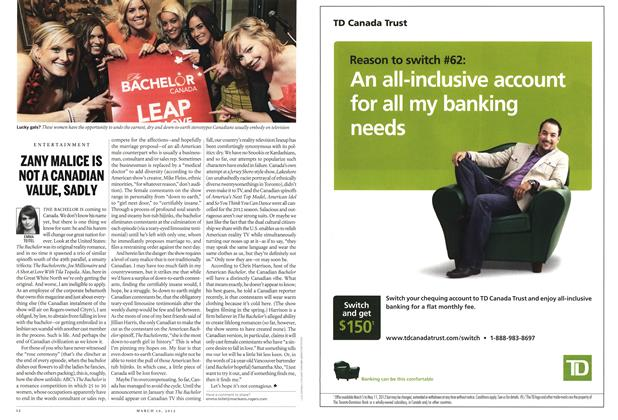 Article Preview: ZANY MALICE IS NOT A CANADIAN VALUE, SADLY, March 2012 | Maclean's