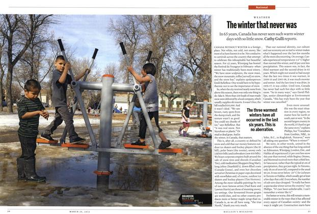 Article Preview: The winter that never was, March 2012 | Maclean's