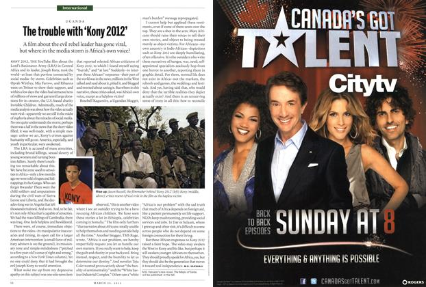 Article Preview: The trouble with 'Kony 2012', March 2012   Maclean's