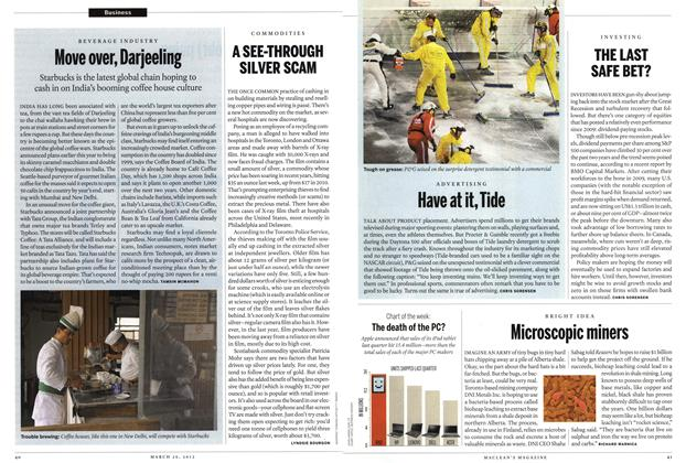 Article Preview: Move over, Darjeeling, March 2012 | Maclean's