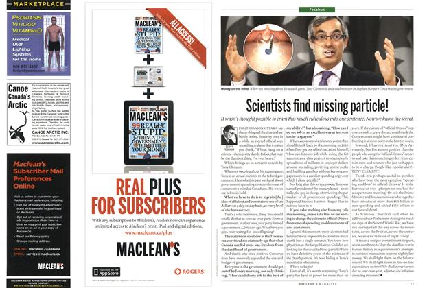 Article Preview: Scientists find missing particle!, March 2012 | Maclean's