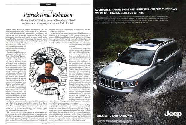 Article Preview: 1971-2012 Patrick Israel Robinson, March 2012   Maclean's