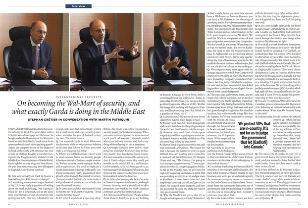 Article Preview: On becoming the Wal-Mart of security, and what exactly Garda is doing in the Middle East, March 2012 | Maclean's