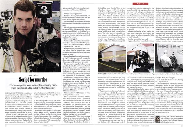 Article Preview: Script for murder, April 2012 | Maclean's