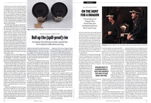 Article Preview: Roll up the (spill-proof) rim, April 2012 | Maclean's