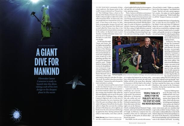 Article Preview: A GIANT DIVE FOR MANKIND, April 2012 | Maclean's