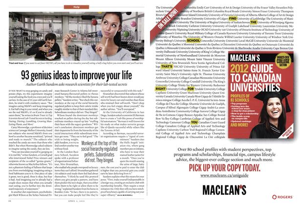Article Preview: 93 genius ideas to improve your life, April 2012   Maclean's