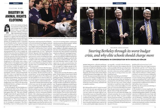 Article Preview: BIGOTRY IN ANIMAL RIGHTS CLOTHING, April 2012 | Maclean's