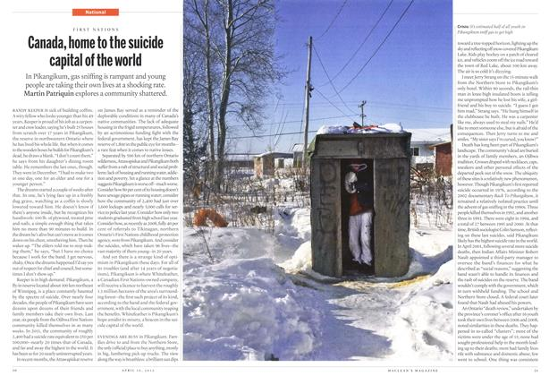 Article Preview: Canada, home to the suicide capital of the world, April 2012 | Maclean's