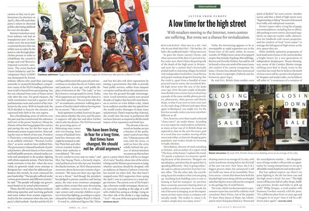 Article Preview: A low time for the high street, April 2012 | Maclean's
