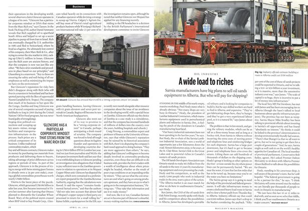 Article Preview: A wide load to riches, April 2012 | Maclean's