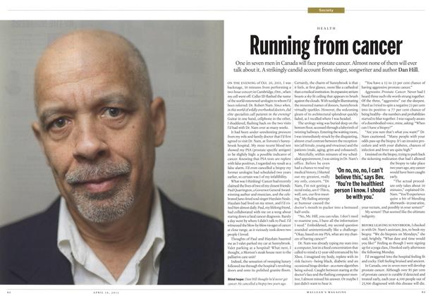 Article Preview: Running from cancer, April 2012 | Maclean's