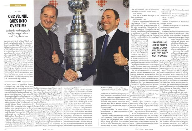 Article Preview: CBC VS. NHL GOES INTO OVERTIME, April 2012 | Maclean's