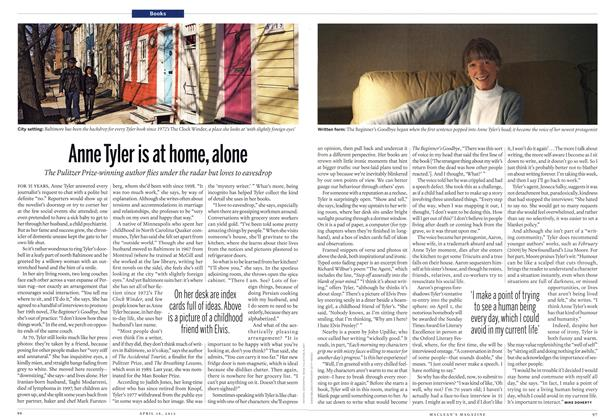 Article Preview: Anne Tyler is at home, alone, April 2012 | Maclean's