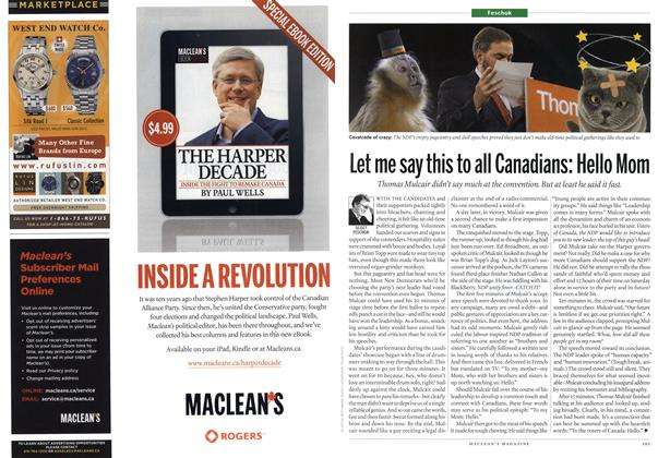 Article Preview: Let me say this to all Canadians: Hello Mom, April 2012 | Maclean's