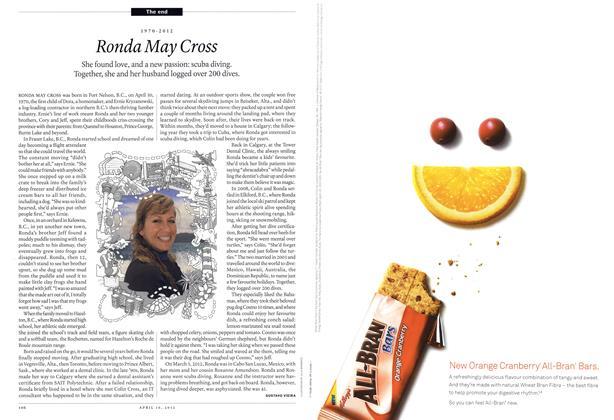 Article Preview: Ronda May Cross, April 2012 | Maclean's