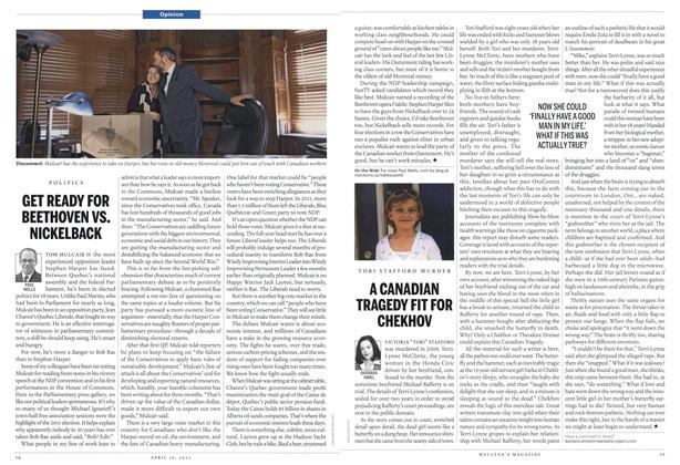 Article Preview: GET READY FOR BEETHOVEN VS. NICKELBACK, April 2012 | Maclean's