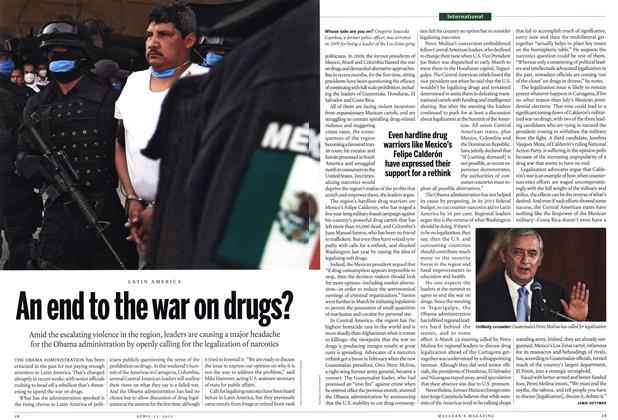 Article Preview: An end to the war on drugs?, April 2012 | Maclean's