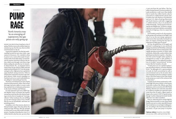 Article Preview: PUMP RAGE, April 2012 | Maclean's