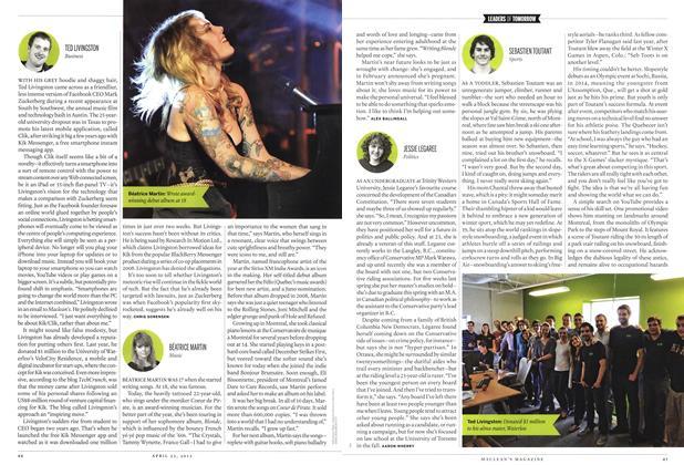 Article Preview: SEBASTIEN TOUTANT, April 2012 | Maclean's