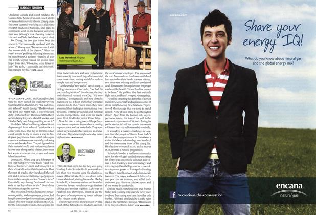 Article Preview: LUKE STRIMBOLD, April 2012 | Maclean's