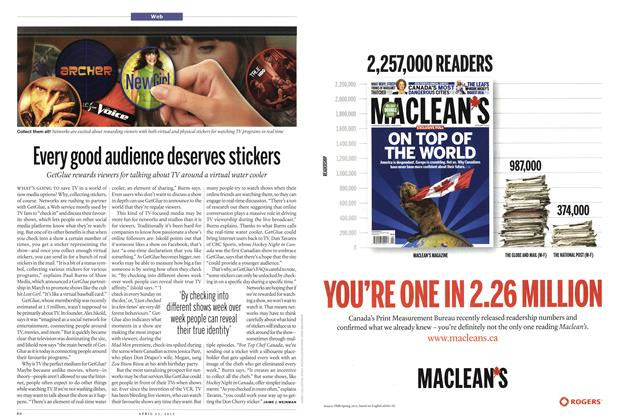 Article Preview: Every good audience deserves stickers, April 2012 | Maclean's
