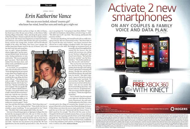Article Preview: Erin Katherine Vance, April 2012 | Maclean's