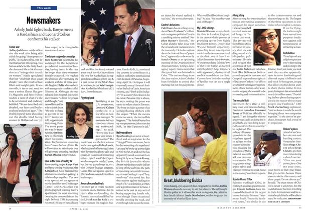 Article Preview: Newsmakers, April 2012 | Maclean's