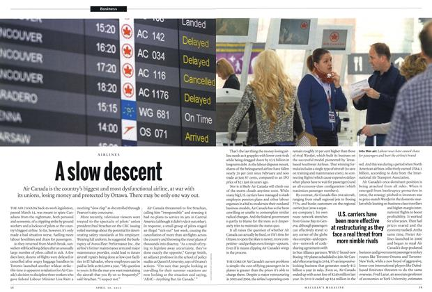 Article Preview: A slow descent, April 2012 | Maclean's