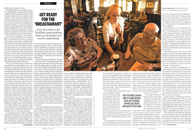 Article Preview: GET READY FOR THE 'BREASTAURANT', April 2012 | Maclean's