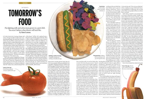 Article Preview: TOMORROW'S FOOD, April 2012 | Maclean's