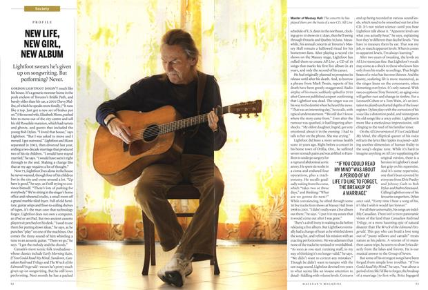 Article Preview: NEW LIFE, NEW GIRL, NEW ALBUM, April 2012 | Maclean's
