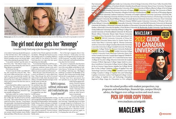 Article Preview: The girl next door gets her 'Revenge', April 2012 | Maclean's