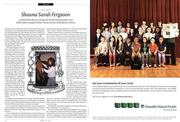 Article Preview: 1953-2012 Shauna Sarah Ferguson, April 2012 | Maclean's