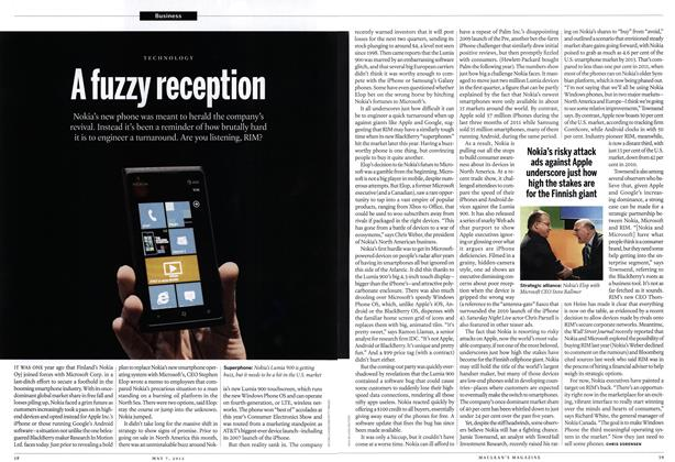 Article Preview: A fuzzy reception, May 2012 | Maclean's