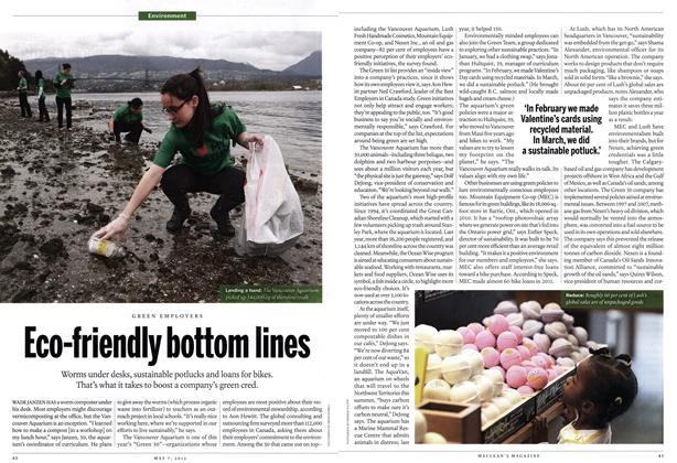 Article Preview: Eco-friendly bottom lines, May 2012 | Maclean's