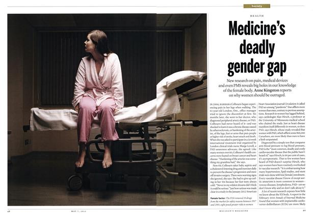 Article Preview: Medicine's deadly gender gap, May 2012 | Maclean's