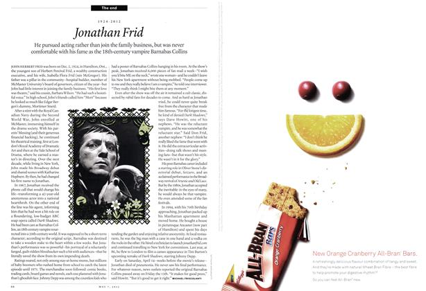 Article Preview: 1924-2012 Jonathan Frid, May 2012 | Maclean's
