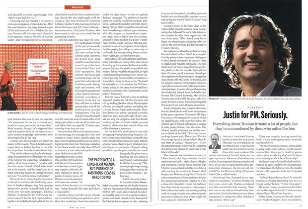 Article Preview: Justin for PM. Seriously., MAY 14,2012 2012 | Maclean's