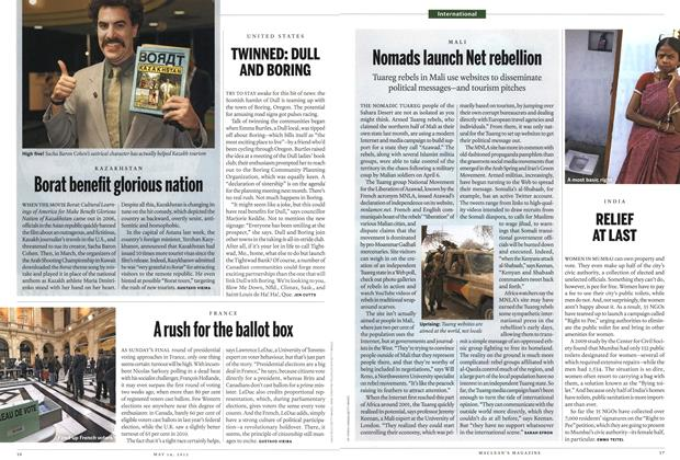 Article Preview: Borat benefit glorious nation, MAY 14,2012 2012 | Maclean's