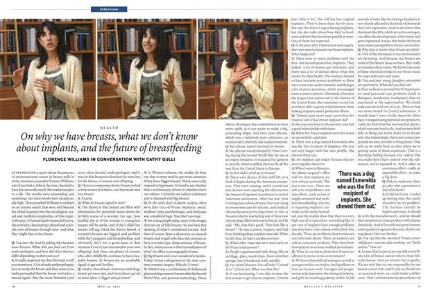 Article Preview: On why we have breasts, what we don't know about implants, and the future of breastfeeding, MAY 14,2012 2012 | Maclean's