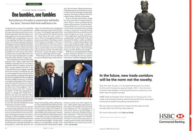 Article Preview: One bumbles, one fumbles, MAY 21,2012 2012 | Maclean's