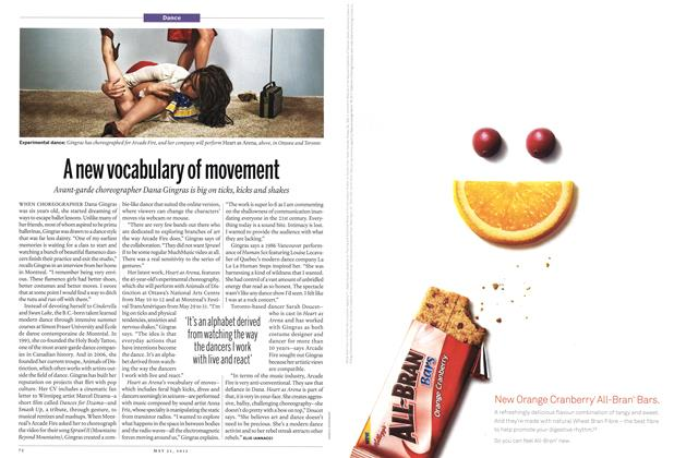 Article Preview: A new vocabulary of movement, MAY 21,2012 2012 | Maclean's