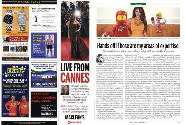 Article Preview: Hands off! Those are my areas of expertise., MAY 21,2012 2012 | Maclean's