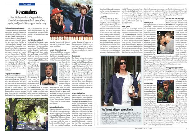 Article Preview: Newsmakers, MAY 21,2012 2012 | Maclean's