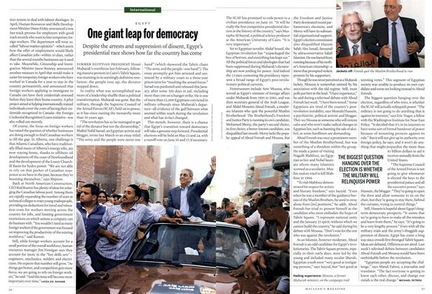 Article Preview: One giant leap for democracy, May 2012 | Maclean's