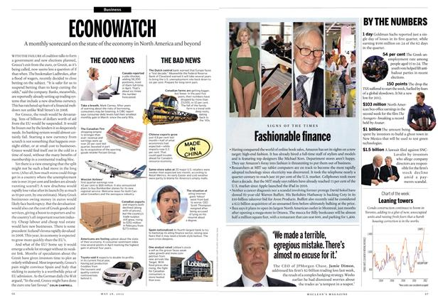 Article Preview: ECONOWATCH, May 2012 | Maclean's