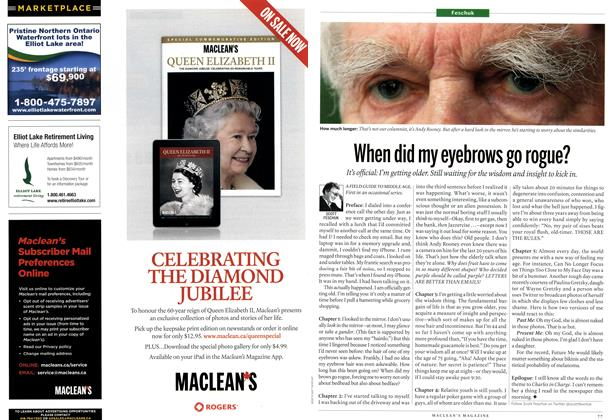 Article Preview: When did my eyebrows go rogue?, May 2012 | Maclean's