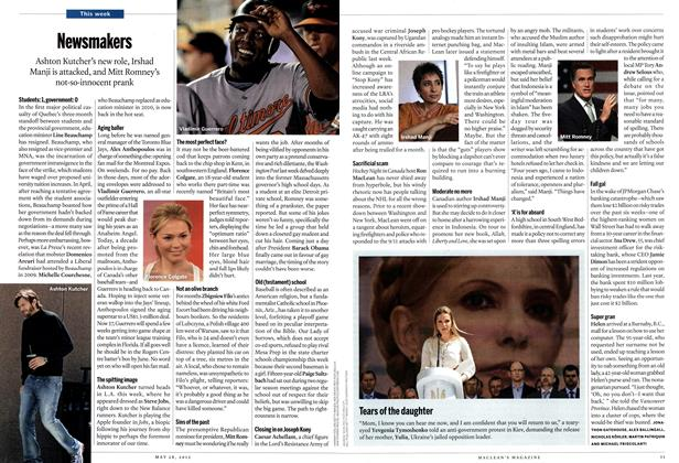 Article Preview: Newsmakers, May 2012 | Maclean's