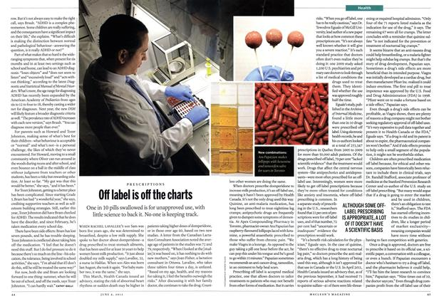 Article Preview: Off label is off the charts, June 2012 | Maclean's